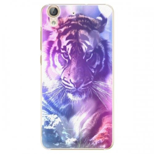 Plastové pouzdro iSaprio - Purple Tiger - Huawei Y6 II
