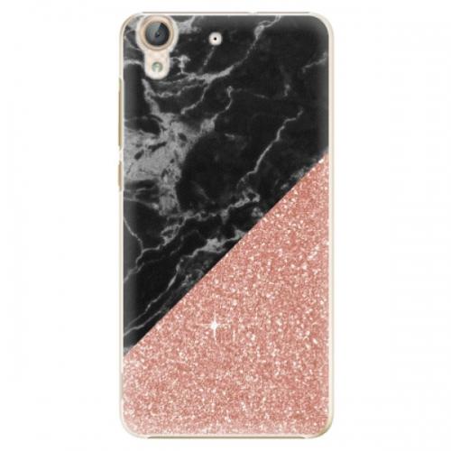 Plastové pouzdro iSaprio - Rose and Black Marble - Huawei Y6 II