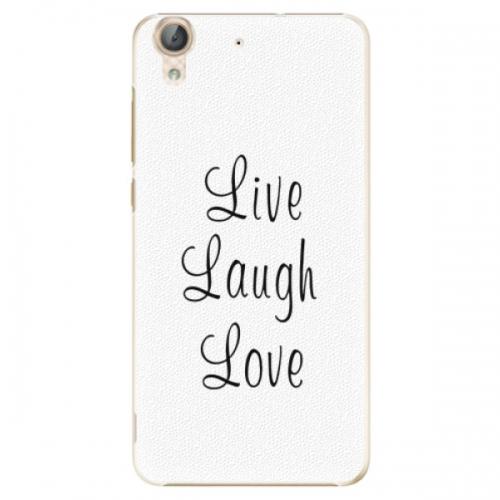 Plastové pouzdro iSaprio - Live Laugh Love - Huawei Y6 II
