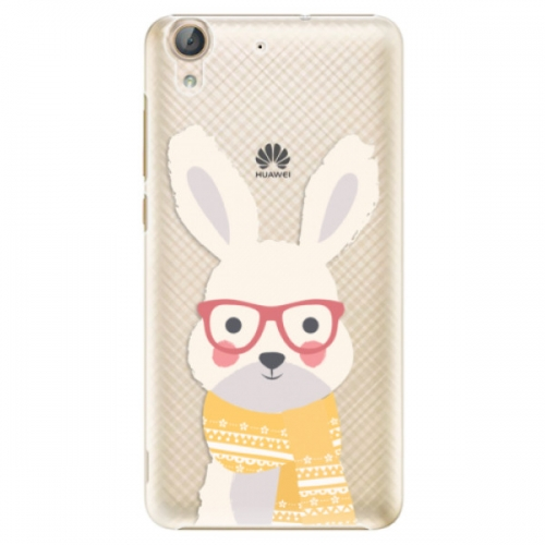 Plastové pouzdro iSaprio - Smart Rabbit - Huawei Y6 II