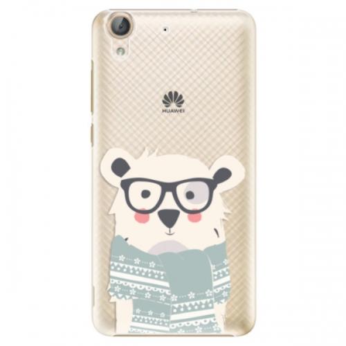 Plastové pouzdro iSaprio - Bear with Scarf - Huawei Y6 II
