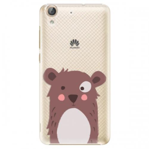 Plastové pouzdro iSaprio - Brown Bear - Huawei Y6 II