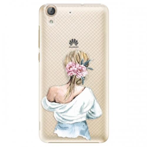 Plastové pouzdro iSaprio - Girl with flowers - Huawei Y6 II