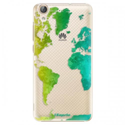 Plastové pouzdro iSaprio - Cold Map - Huawei Y6 II