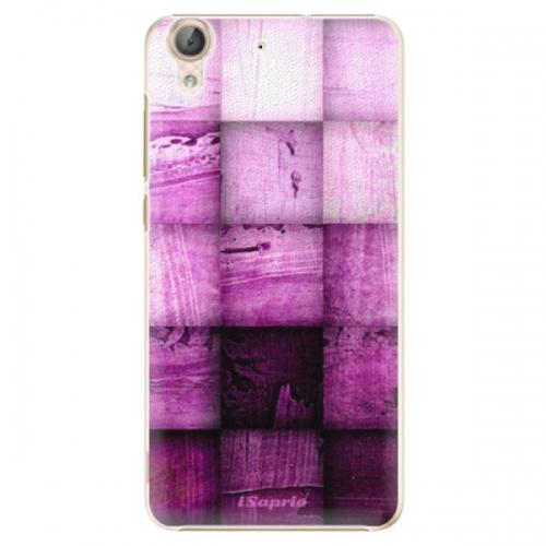 Plastové pouzdro iSaprio - Purple Squares - Huawei Y6 II