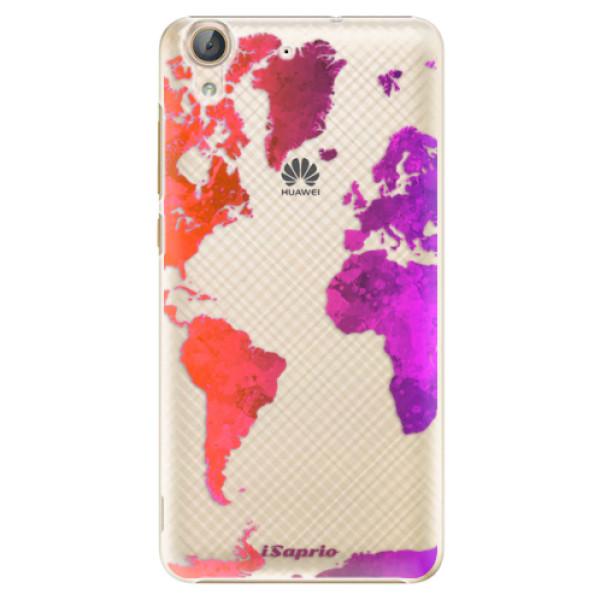 Plastové pouzdro iSaprio - Warm Map - Huawei Y6 II