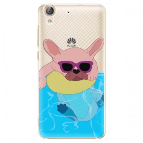 Plastové pouzdro iSaprio - Swimming Dog - Huawei Y6 II