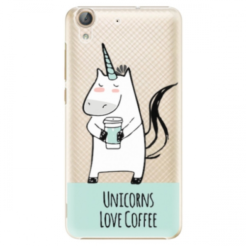 Plastové pouzdro iSaprio - Unicorns Love Coffee - Huawei Y6 II