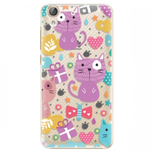 Plastové pouzdro iSaprio - Cat pattern 01 - Huawei Y6 II