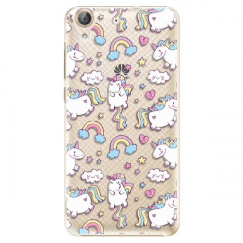 Plastové pouzdro iSaprio - Unicorn pattern 02 - Huawei Y6 II