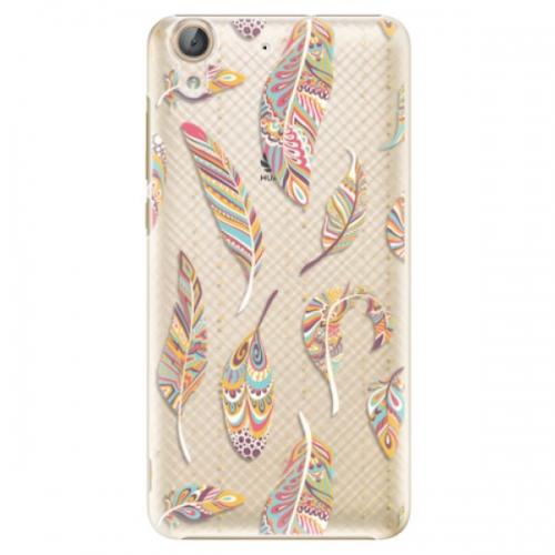Plastové pouzdro iSaprio - Feather pattern 02 - Huawei Y6 II