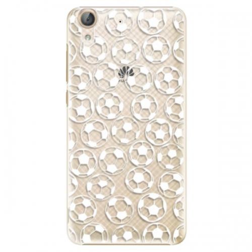 Plastové pouzdro iSaprio - Football pattern - white - Huawei Y6 II