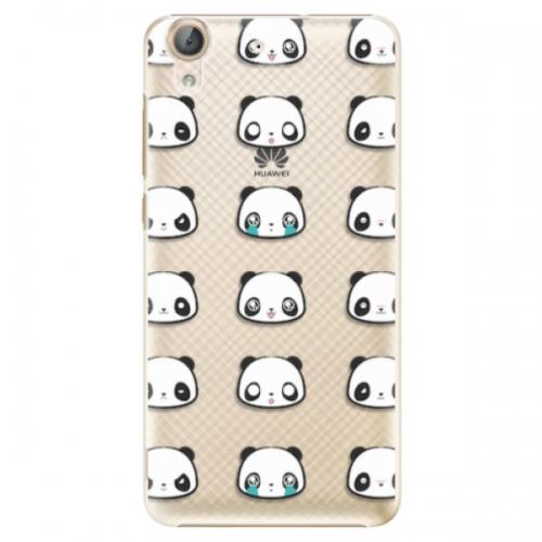 Plastové pouzdro iSaprio - Panda pattern 01 - Huawei Y6 II