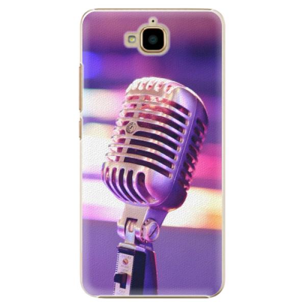 Plastové pouzdro iSaprio - Vintage Microphone - Huawei Y6 Pro
