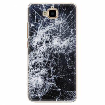 Plastové pouzdro iSaprio - Cracked - Huawei Y6 Pro