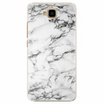 Plastové pouzdro iSaprio - White Marble 01 - Huawei Y6 Pro