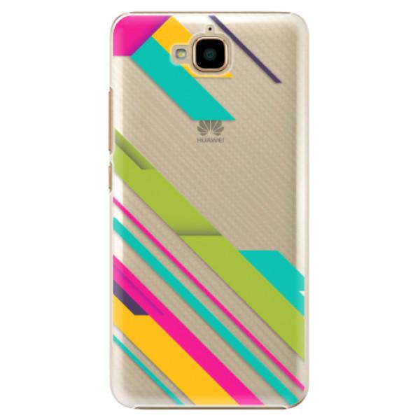 Plastové pouzdro iSaprio - Color Stripes 03 - Huawei Y6 Pro