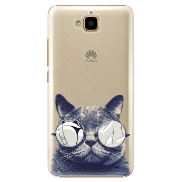 Plastové pouzdro iSaprio - Crazy Cat 01 - Huawei Y6 Pro