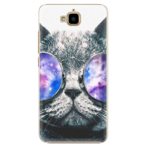 Plastové pouzdro iSaprio - Galaxy Cat - Huawei Y6 Pro