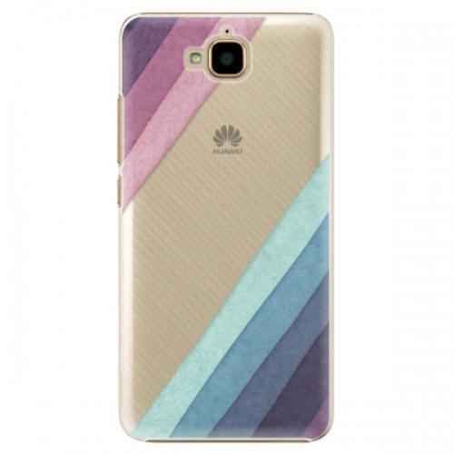 Plastové pouzdro iSaprio - Glitter Stripes 01 - Huawei Y6 Pro