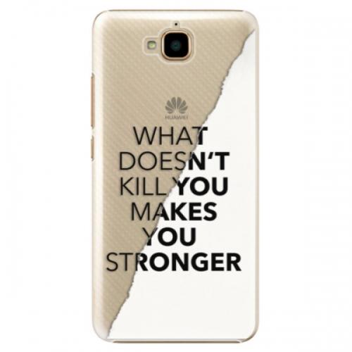 Plastové pouzdro iSaprio - Makes You Stronger - Huawei Y6 Pro