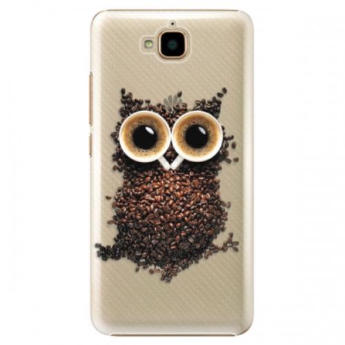Plastové pouzdro iSaprio - Owl And Coffee - Huawei Y6 Pro
