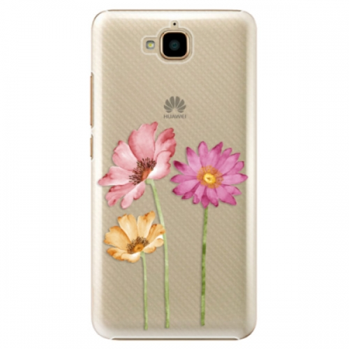 Plastové pouzdro iSaprio - Three Flowers - Huawei Y6 Pro