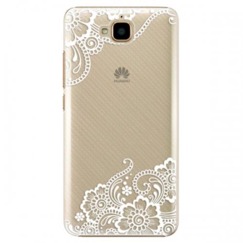 Plastové pouzdro iSaprio - White Lace 02 - Huawei Y6 Pro