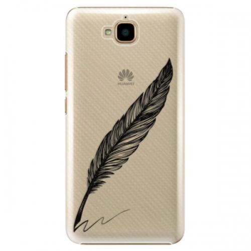 Plastové pouzdro iSaprio - Writing By Feather - black - Huawei Y6 Pro