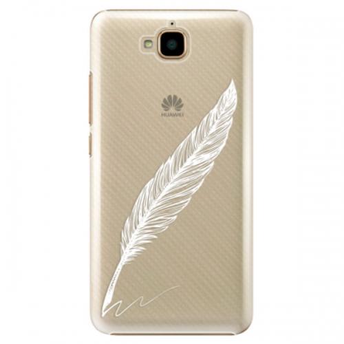 Plastové pouzdro iSaprio - Writing By Feather - white - Huawei Y6 Pro