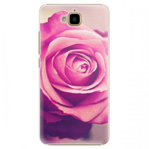 Plastové pouzdro iSaprio - Pink Rose - Huawei Y6 Pro