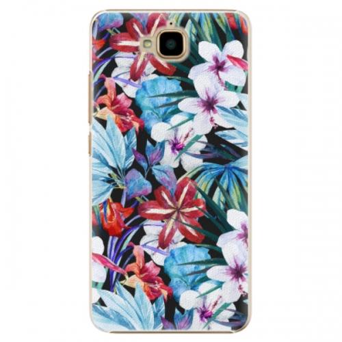 Plastové pouzdro iSaprio - Tropical Flowers 05 - Huawei Y6 Pro
