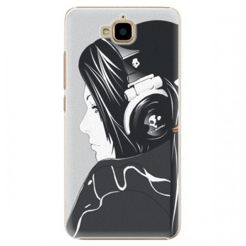 Plastové pouzdro iSaprio - Headphones - Huawei Y6 Pro