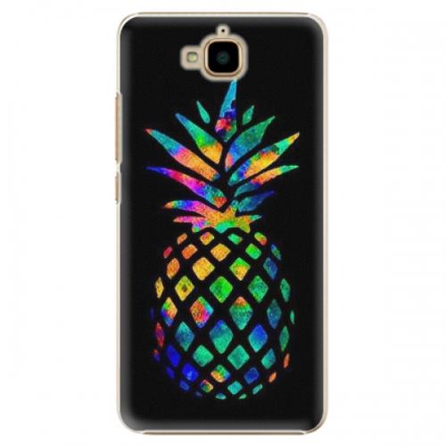 Plastové pouzdro iSaprio - Rainbow Pineapple - Huawei Y6 Pro