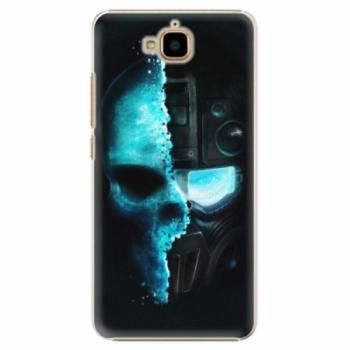 Plastové pouzdro iSaprio - Roboskull - Huawei Y6 Pro