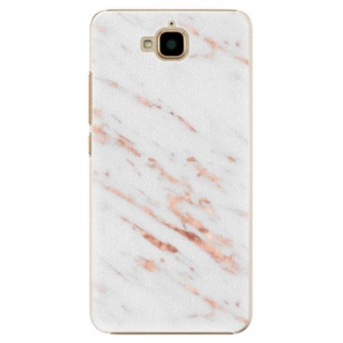 Plastové pouzdro iSaprio - Rose Gold Marble - Huawei Y6 Pro