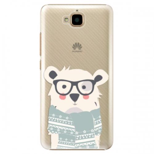 Plastové pouzdro iSaprio - Bear with Scarf - Huawei Y6 Pro