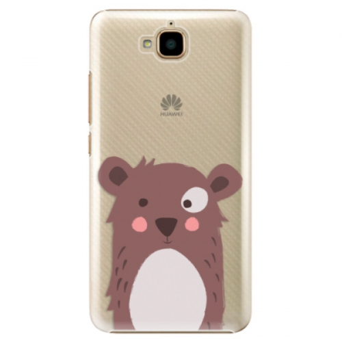 Plastové pouzdro iSaprio - Brown Bear - Huawei Y6 Pro