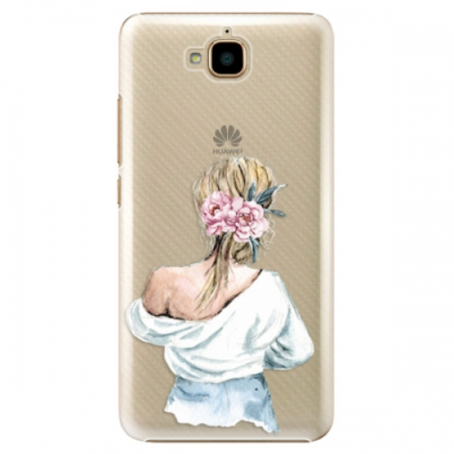 Plastové pouzdro iSaprio - Girl with flowers - Huawei Y6 Pro