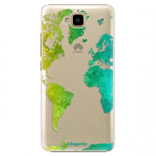 Plastové pouzdro iSaprio - Cold Map - Huawei Y6 Pro