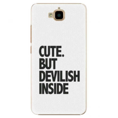 Plastové pouzdro iSaprio - Devilish inside - Huawei Y6 Pro
