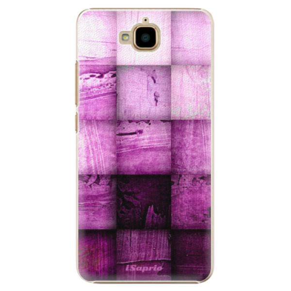 Plastové pouzdro iSaprio - Purple Squares - Huawei Y6 Pro