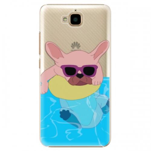 Plastové pouzdro iSaprio - Swimming Dog - Huawei Y6 Pro