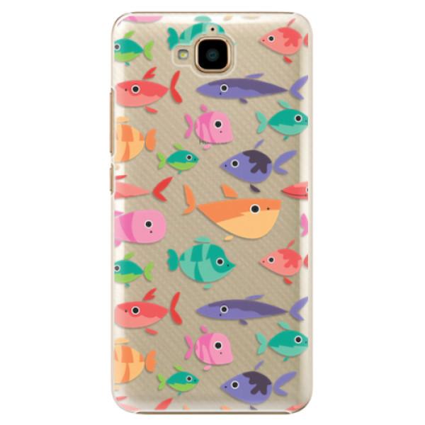 Plastové pouzdro iSaprio - Fish pattern 01 - Huawei Y6 Pro