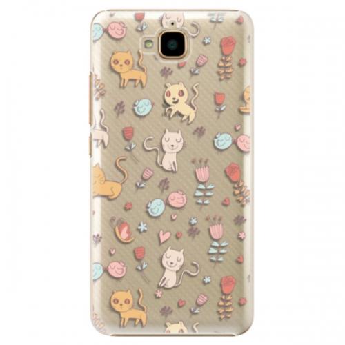 Plastové pouzdro iSaprio - Cat pattern 02 - Huawei Y6 Pro