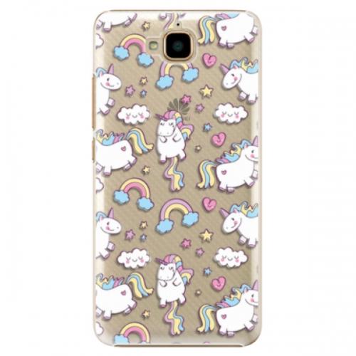 Plastové pouzdro iSaprio - Unicorn pattern 02 - Huawei Y6 Pro