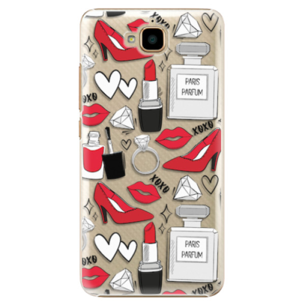 Plastové pouzdro iSaprio - Fashion pattern 03 - Huawei Y6 Pro