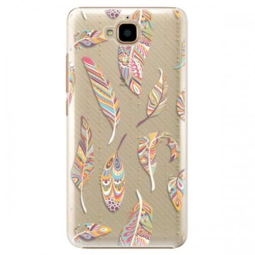 Plastové pouzdro iSaprio - Feather pattern 02 - Huawei Y6 Pro