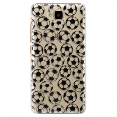 Plastové pouzdro iSaprio - Football pattern - black - Huawei Y6 Pro