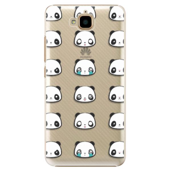 Plastové pouzdro iSaprio - Panda pattern 01 - Huawei Y6 Pro